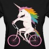 unicorn on bike - Women's T-Shirt