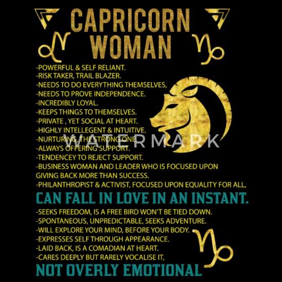 Capricorn Woman Women's T-Shirt - black