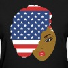 Side Patriotic Afro Hair - Women's T-Shirt
