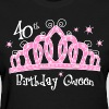 Tiara 40th Birthday Queen DK - Women's T-Shirt