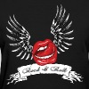 Rock N Roll Winged Lips - Women's T-Shirt