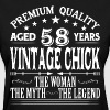 VINTAGE CHICK AGED 58 YEARS - Women's T-Shirt