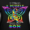 Autism I Wear A Puzzle for my Son - Women's T-Shirt