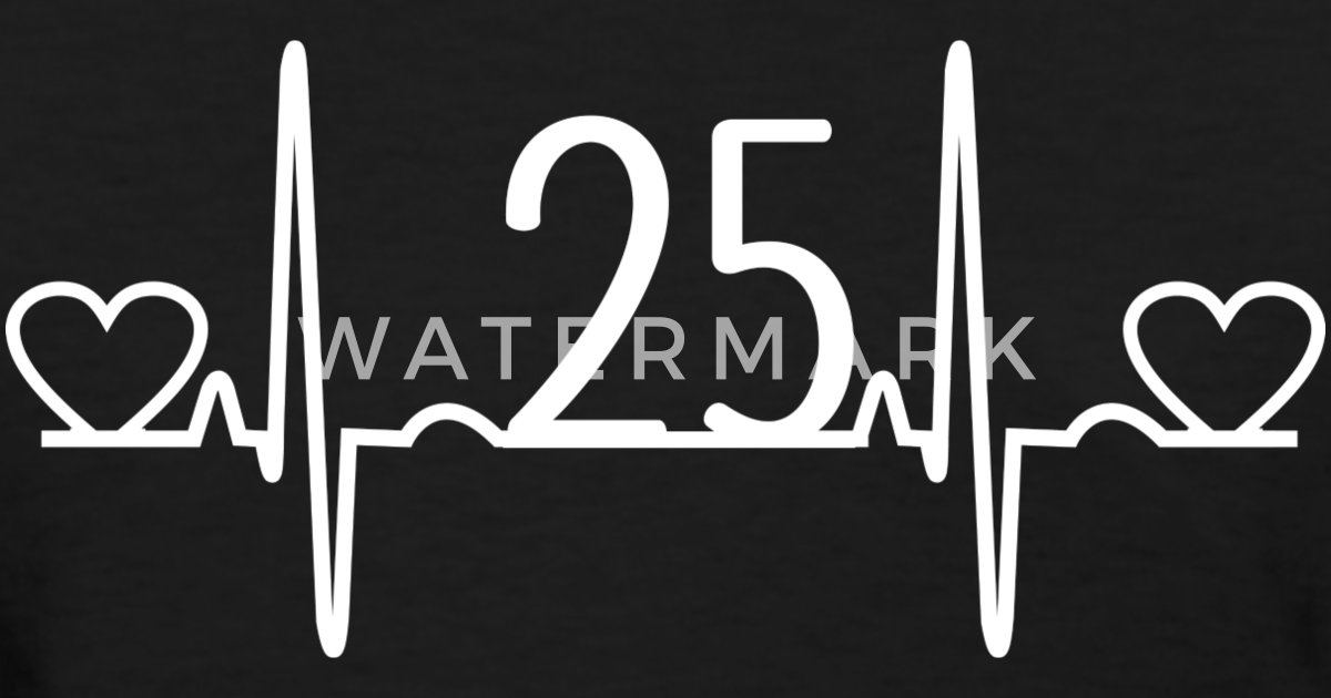 25th Wedding Anniversary Heartbeat By Homewiseshopper Spreadshirt