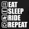 EAT SLEEP RIDE - horse - Women's T-Shirt