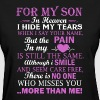 For My Son In Heaven - Women's T-Shirt