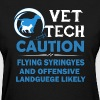 Vet Tech Caution Shirts - Women's T-Shirt