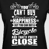 Happiness = Bicycle - Women's T-Shirt