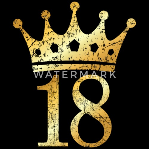 18th Birthday Crown Number 18 (Ancient Gold) Women's T