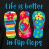 Life Is Better Flip Flops - Women's T-Shirt