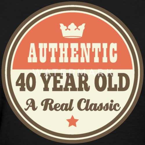 40th Birthday Funny Vintage Crown By Homewiseshopper