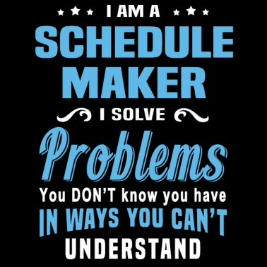 schedule maker by bushking spreadshirt