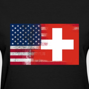 Swiss American Half Switzerland Half America Flag - Women's T-Shirt