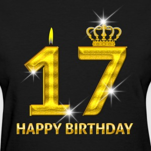 17 - Happy Birthday - Golden Number - Women's T-Shirt
