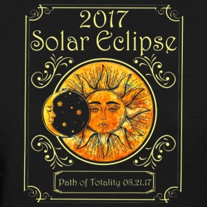 Solar Eclipse Path Of Totality Art Moon And Sun - Women's T-Shirt