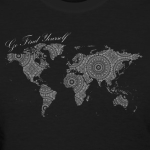 World Map as a Mandala - Go find yourself White - Women's T-Shirt