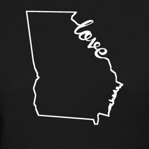 Georgia Love State Outline - Women's T-Shirt
