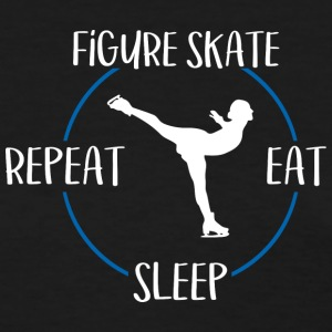 Figure Skate, Eat, Sleep, Repeat - Women's T-Shirt