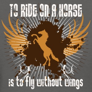 To ride on a horse is to fly without wings - Women's T-Shirt