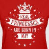 05 Real Princesses are born in May Princess - Women's T-Shirt