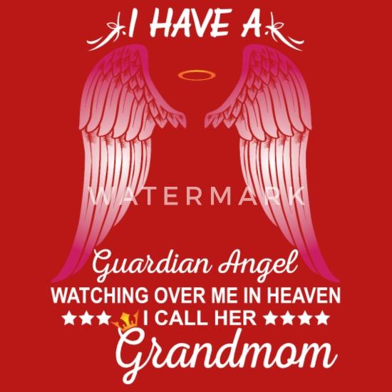 My Grandmom Is My Guardian Angel Women's T-Shirt - red