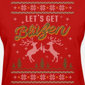UGLY HOLIDAY SWEATER LET'S GET BLITZEN