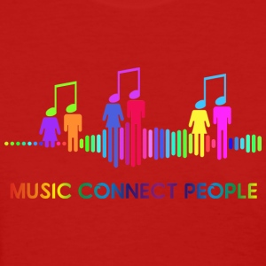 music connect people - Women's T-Shirt