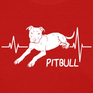 Pitbull Heartbeat Design for Pit Bull dog Lovers - Women's T-Shirt