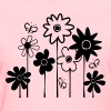 Cute Funky Assorted Flowers With Butterflies--DIGITAL DIRECT PRINT - Women's T-Shirt