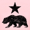 California Republic distressed Bear and Star - Women's T-Shirt