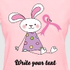 Breast Cancer Ribbon Bunny - Women's T-Shirt