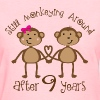 9th Anniversary monkey couple - Women's T-Shirt