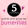 5 Year Anniversary Butterflies - Women's T-Shirt