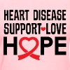Heart Disease Support Red Ribbon Awareness - Women's T-Shirt