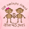 45th Anniversary Funny Monkey Couple - Women's T-Shirt