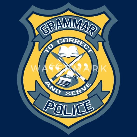Grammar police badge-femme drôle Premium T-Shirt