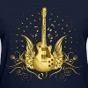 Golden Winged Guitar - Women's T-Shirt