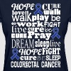 Colorectal Cancer Blue Awareness Ribbon Colon Canc - Women's T-Shirt
