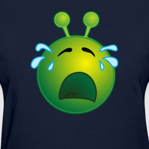 Bestseller Funny Crying Sad Alien Face with Tears - Women's T-Shirt