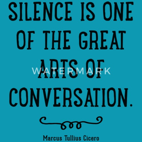 Silence Quote Womens T Shirt Spreadshirt