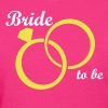 Bride Groom Wedding Rings - Women's T-Shirt