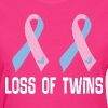 Loss Of Twins Infant Ribbon Awareness - Women's T-Shirt