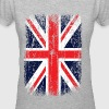 Vintage UK Union Jack Flag - Women's V-Neck T-Shirt