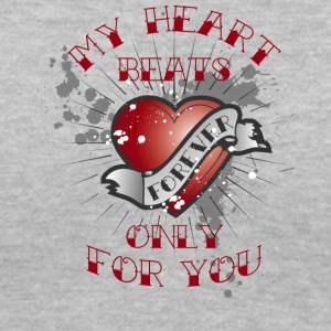 my heart beats for you - Women's V-Neck T-Shirt