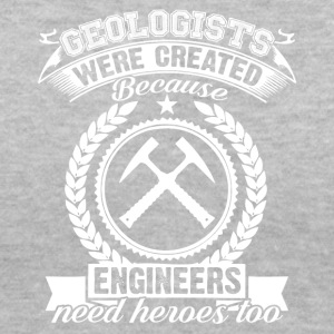 GEOLOGISTS VS ENGINEERS TEE SHIRT - Women's V-Neck T-Shirt