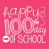 happy 100th day of school - Women's V-Neck T-Shirt