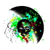 Alien Skull Graffiti Graphic - Unisex Paint Splatter Design - Women's V-Neck T-Shirt