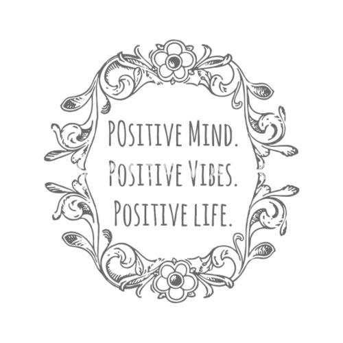 Positive Mindpositive Vibespositive Life Womens V Neck T Shirt