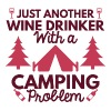 Wine Drinker Camping - Women's V-Neck T-Shirt