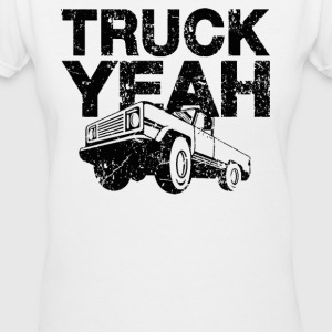 YEAH Truck - Women's V-Neck T-Shirt